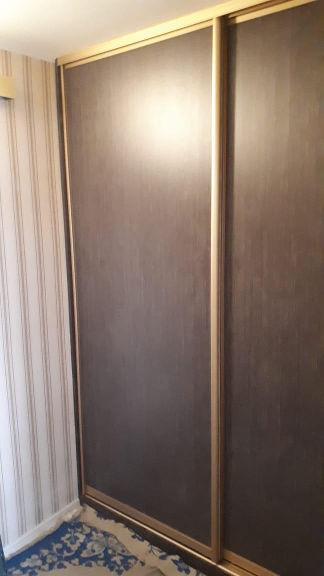 Шкаф купе встроенный (капучино)